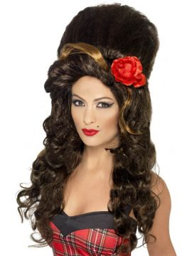 Rehab Wig - Brown For Sale - Rehab Wig, Brown, Large Beehive | The Costume Corner Fancy Dress Super Store