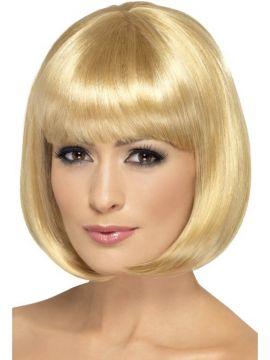 Partyrama Wig - Dark Blonde For Sale - Partyrama Wig, 12 inch, Dark Blonde, Short Bob with Fringe | The Costume Corner Fancy Dress Super Store