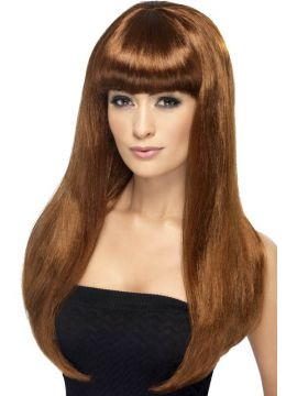 Babelicious Wig - Auburn For Sale - Babelicious Wig, Auburn, Long, Straight with Fringe | The Costume Corner Fancy Dress Super Store