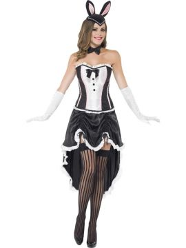 Bunny Burlesque For Sale - Bunny Burlesque, Black, with Corset, Adjustable Skirt and Bow Tie, in Display Bag | The Costume Corner Fancy Dress Super Store