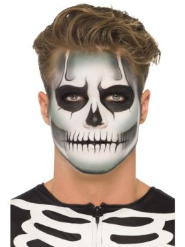 Glow in the Dark Skeleton Kit For Sale - Glow in the Dark Skeleton Kit, 3 Colours, GID Cream Sachet, Black Crayon, Sponge & Applicator Brush, on Display Card | The Costume Corner Fancy Dress Super Store
