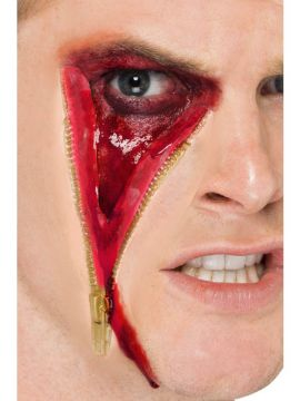 Zip Face Scar For Sale - Zip Face Scar, Flesh, Latex, Adhesive | The Costume Corner Fancy Dress Super Store