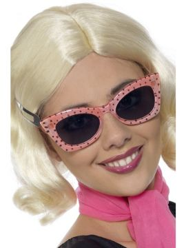 50s Style Polkadot Specs For Sale - 50s Style Polkadot Specs | The Costume Corner Fancy Dress Super Store