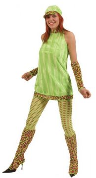 Lime Green Dress For Sale - 60's Lime Green Dress (Hire Costume) | The Costume Corner
