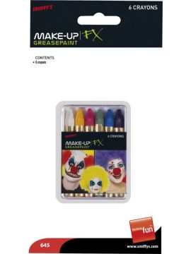 Carnival Greasepaints For Sale - Carnival Greasepaints, 6 Colours, on Display Card | The Costume Corner Fancy Dress Super Store