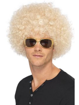 Afro Wig - Blonde For Sale - 70's Funky Afro Wig, Blonde | The Costume Corner Fancy Dress Super Store