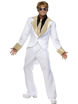 70s Rocket Man For Sale - 70s Rocket Man Costume, with Shirt Front, Jacket, Trousers and Tie | The Costume Corner Fancy Dress Super Store