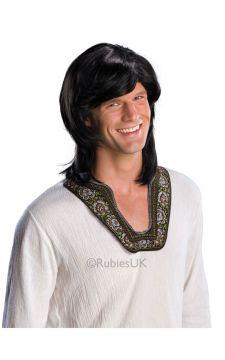 70s Guy Wig - Black For Sale - 70s Guy Black Wig | The Costume Corner Fancy Dress Super Store