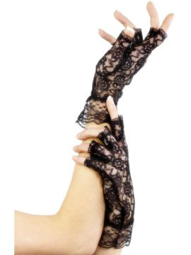 Fingerless Lace Gloves For Sale - Fingerless Lace Gloves, Black | The Costume Corner Fancy Dress Super Store