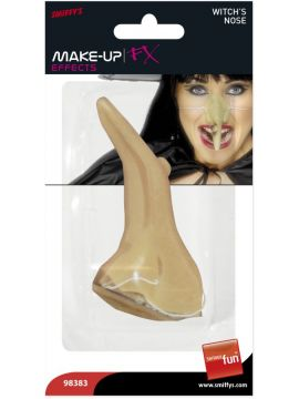 Witch Nose For Sale - Witch Nose, Flesh Coloured, with Wart on Elastic | The Costume Corner Fancy Dress Super Store