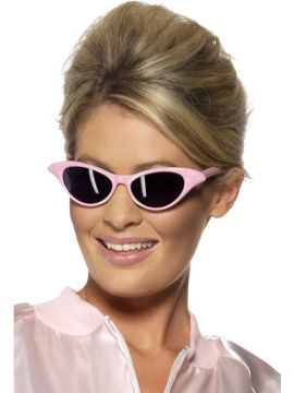 Glasses - 50's Rock n Roll For Sale - Flyaway Style Rock and Roll Sunglasses, Pink, with Diamante. | The Costume Corner Fancy Dress Super Store