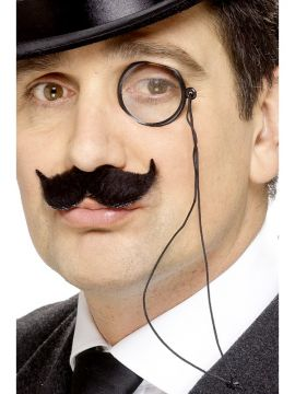 Black Monocle For Sale - Tales of Old England Monocle, Black, on Cord | The Costume Corner Fancy Dress Super Store