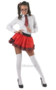 Adult School Girl Tutu Set For Sale - Adult School Girl Tutu kit. Includes skirt, tie and hair ties | The Costume Corner Fancy Dress Super Store