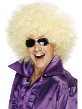 Afro Wig - Blonde For Sale - Afro Wig, Mega-Huge, Blonde | The Costume Corner Fancy Dress Super Store