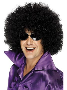 Afro Wig, Mega-Huge For Sale - Afro Wig, Mega-Huge, Black, in Display Box | The Costume Corner Fancy Dress Super Store
