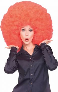 Afro Wig - Red For Sale - Red Super Afro Wig | The Costume Corner Fancy Dress Super Store