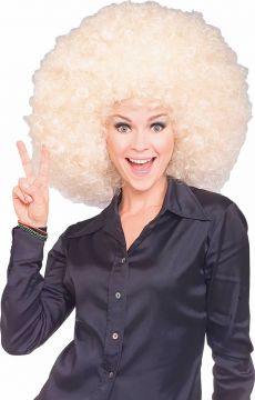 Super Afro Wig - Blonde For Sale - One blonde afro wig. | The Costume Corner Fancy Dress Super Store