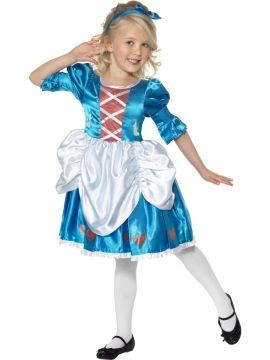 Alice In Wonderland For Sale - Alice In wonderland Costume. Includes blue dress with criss cross bodice panel, white overskirt and heart detail and matching headband. | The Costume Corner Fancy Dress Super Store