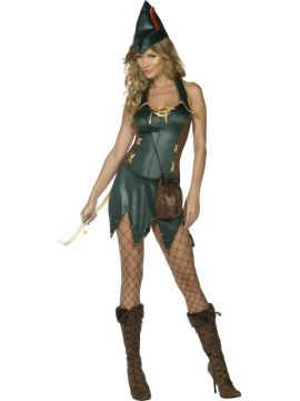 Alluring Archer For Sale - Fever Alluring Archer Costume, Green, With Dress, Hat and Bag | The Costume Corner Fancy Dress Super Store