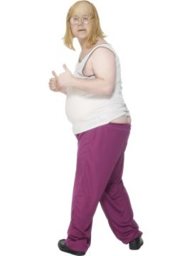 Andy For Sale - Little Britain, Andy Costume, With Vest, Tracksuit Bottoms and Stuffer | The Costume Corner Fancy Dress Super Store