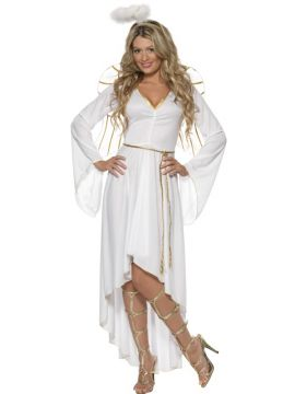 Angel For Sale - Angel Costume, with Dress, Belt, Halo and Wings. | The Costume Corner Fancy Dress Super Store