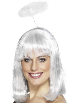 Angel Halo For Sale - White Marabou Angel Halo | The Costume Corner Fancy Dress Super Store
