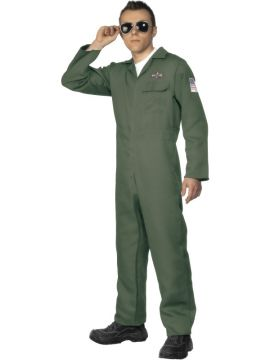 Aviator For Sale - Aviator Costume, Green, with Zip Up Jumpsuit | The Costume Corner Fancy Dress Super Store
