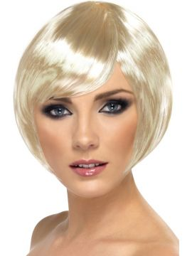 Babe Wig - Blonde For Sale - Babe Wig, Blonde, Short Bob with Fringe | The Costume Corner Fancy Dress Super Store