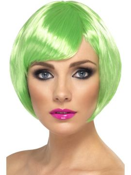 Babe Wig For Sale - Babe Wig, Green, Short Bob with Fringe | The Costume Corner Fancy Dress Super Store