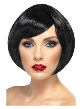 Wig - Babe - Black For Sale - Babe Wig, Black, Short Bob with Fringe | The Costume Corner Fancy Dress Super Store