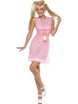 90's Icon - Baby Spice For Sale - Baby Power, 1990's Icon Costume, Pink, Dress and Dummy | The Costume Corner Fancy Dress Super Store