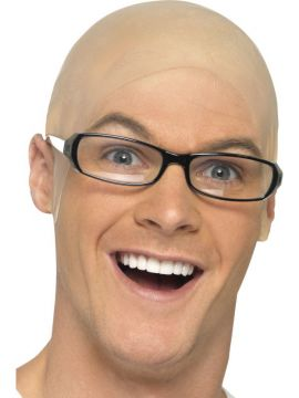 Bald Head Piece For Sale - Bald, Skin Head | The Costume Corner Fancy Dress Super Store