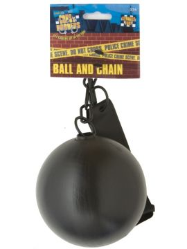 Ball and Chain For Sale - Ball and Chain for Convicts and Stags, Black. | The Costume Corner Fancy Dress Super Store
