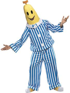 Bananas in Pyjamas For Sale - Bananas in Pyjamas Costume, with Top, Trousers, Head Piece and Shoe Covers. | The Costume Corner Fancy Dress Super Store