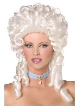 Baroque Wig For Sale - Baroque Wig, White, Shoulder Length with Ringlet Curls, in Display Box | The Costume Corner Fancy Dress Super Store