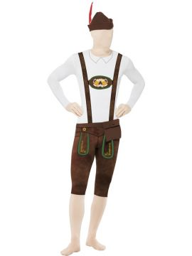 Bavarian Second Skin Suit, with Hat For Sale - Second Skin Suit, with Hat, Bumbag, Concealed Fly and Under Chin Opening | The Costume Corner Fancy Dress Super Store