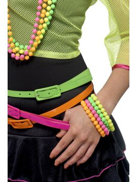 Beaded Bracelets, Neon For Sale - Beaded Bracelets, Neon, Assorted Colours, on Display Card | The Costume Corner Fancy Dress Super Store