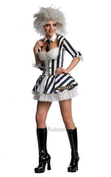 Beetlejuice Girl For Sale - Dress, Wig & Collar with Tie. | The Costume Corner Fancy Dress Super Store