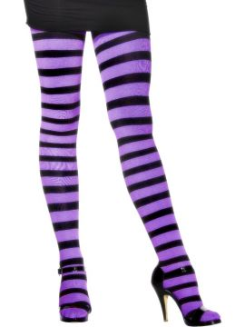 Tights - Black and Purple For Sale -    The Costume Corner Fancy Dress Super Store