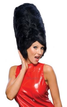 Beehive Wig - Black For Sale - Black Beehive Wig | The Costume Corner Fancy Dress Super Store