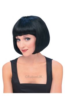 Black Bob Wig For Sale - Black bob wig, available in a range of colours | The Costume Corner Fancy Dress Super Store