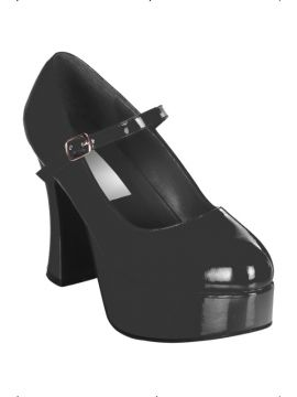 Dolly Shoes - Black For Sale - Fever black patent dolly shoes.  | The Costume Corner Fancy Dress Super Store