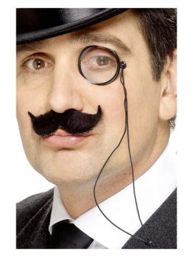 Glasses - Black Monocle For Sale - Black Monocle on string | The Costume Corner Fancy Dress Super Store
