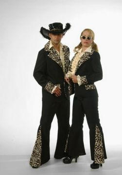 Black Pimp Suit For Sale - Black pimp suit with leopard print. (Hire Cosume) | The Costume Corner