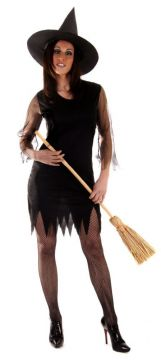 Black Sexy Witch For Sale - Includes Dress & Hat