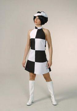 Black/White 60s dress For Sale - Black/White 60s dress (Hire Costume) | The Costume Corner