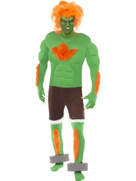 Blanka For Sale - Blanka Costume, Super Street Fighter Iv, Includes Top, Trousers, Gloves and Anklets | The Costume Corner Fancy Dress Super Store