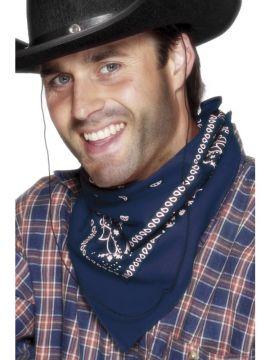 Acc - Cowboy Bandana - Blue For Sale - Western Bandana, Neckerchief in Blue | The Costume Corner Fancy Dress Super Store