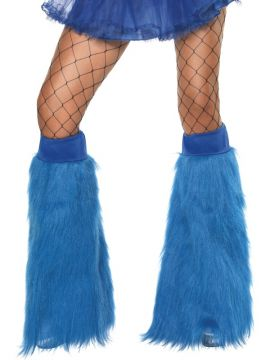Furry Boot Covers - Blue For Sale - Blue Furry Bootcovers | The Costume Corner Fancy Dress Super Store