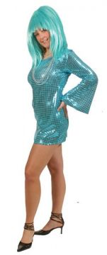 Blue Sequin Dress For Sale - (Hire Costume) | The Costume Corner